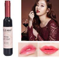 Bottiglia di vino rosso Tinta per labbra opaca Lucidalabbra Impermeabile a lunga durata Lucidalabbra Idratante Tinta per labbra Rossetto liquido cosmetico 6 colori