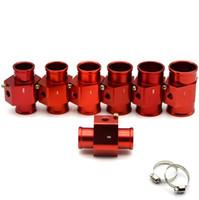 "Racing Red Water Coolant Temperatur Sensor Vatten Temp Gauge Adapter 1,25 ""28 mm 30 mm 32mm 36mm 38mm 40mm med logotyp"