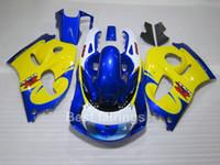 حار بيع طقم هدية لSUZUKI GSXR600 GSXR750 SRAD 1996-2000 أبيض أزرق أصفر GSXR 600 750 96 97 98 99 00 نفطة JA14
