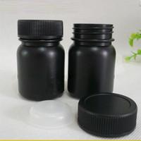 50ML 100ML داكن أسود اللون HDPE زجاجة، زجاجة من البلاستيك، حبوب منع الحمل زجاجة مع غطاء scew وغطاء داخلي الشحن السريع F1441