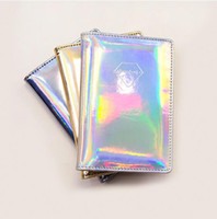 ID Holders Women Hologram Purse Leather Clutch Wallet Female...