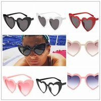 7 Colors Fashion Vintage Retro Sunglasses Elegant Heart Shad...