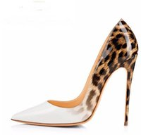 Brand Red Bottom Women Pumps Leopard White Shoes Woman High ...