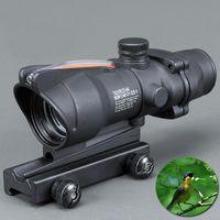 M16 소총에 피카 티니 레일과 Trijicon 사냥 범위 ACOG 1X32 전술 레드 도트 사이트 리얼 그린 광섬유 Riflescope