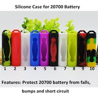 Silicone Case for 20700 Batteries Protective Skin Cover Colo...