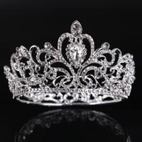 Coroa da noiva Estrela coroa especial de noiva jóias de prata círculo completo strass princesa coroa vestido de noiva acessórios acessórios de cabelo