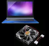12cm HELE Brushless PC 컴퓨터 클리어 케이스 쿼드 4 블루 / 레드 / 컬러 풀 한 LED 라이트 9 블레이드 CPU 쿨링 팬 12V 도매 LLFA