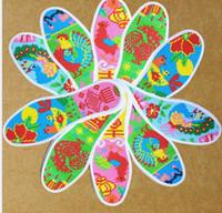 Moda Manuel nakış tabanlık açık spor astarı Karikatür pamuk ayak tedavisi ayakkabı pedleri ulusal el yapımı Tabanlık