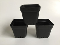 D7XH6. 8CM Cheap Mini Nursery Pots Black Plastic Planters Squ...