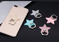 قابلة لإعادة الاستخدام الخماسية نجمة المعادن البنصر الذكي حامل حامل الهاتف المحمول حامل حامل ل iPhone Xiaomi جميع الهواتف