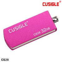 Cusigle CS28 용 금속 회전 키 체인 16GB 32GB 64GB 128GB USB 플래시 드라이브 2.0