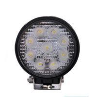 ECAHAYAKU 1x 4 pouces 27W 12V 24V LED Lampe de travail Spot / Projecteur de travail rond pour projecteur tout terrain pour camion de voiture de moto hors route 4x4