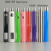 UGO-V II 650 900MAH UGO 510 Nici bateria MICRO USB Passhrough Naładowanie z przepaśnikami kablowymi E CIGS o Pen Vape Baterie