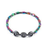 New Circle Ciondolo a cinque stelle magnetico nero cavigliera perlina di vetro AB colore Assistenza sanitaria Cavigliere magnetico per le donne drop ship