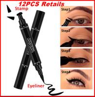 HANDAIYAN Marque Noir Crayon À Paupières Eyeliner Avec Mlle Timbre Sceau Maquiagem Liquide Imperméable Aile Eye Liner Cosmétiques