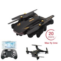 XS809S BATALLAS SHARKS Plegable Selfie Drone Con 2MP Gran Angular Cámara HD Plegable RC Quadcopter Max Flying 20 Minutos RTF RC Helicópteros Juguetes