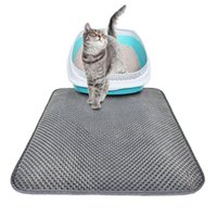 Folding Cat Litter Trapper Mat Waterproof Honeycomb Sifting ...