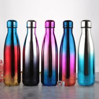 Creative Cola Shaped Water Bottle Vacuum Insulated Travel Wa...