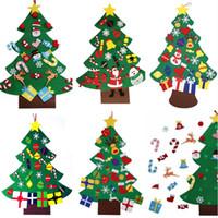 DIY del árbol del fieltro de Navidad con regalos pedante adornos de navidad puerta colgante de pared de la decoración de Navidad para niños Accesorios Manual