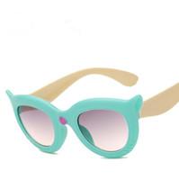 50 قطع قطع الأطفال الكرتون الإبداع نظارات إطار سميك نظارات شكل الثعلب النظارات المضادة للأشعة فوق البنفسجية نظارات أطفال نظارات الشمس