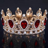 Gelin Taçlar Rhinestone Kristaller Chic Düğün Taçlar Prenses Kristal Saç Aksesuarları Doğum Günü Partisi Tiaras Quinceaner Tatlı 16