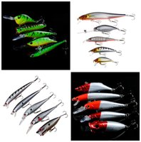 5- models Hard Plastic Lures Fishing Hooks Fishhooks 3D Eyes ...