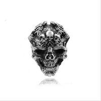 Liga de Prata dos homens da Mulher de Moda Legal Gótico Do Punk Crânio Anéis de Dedo Jóias Charme Quente