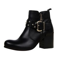 Winter shoes for women boots hollow rivets belt buckle short...