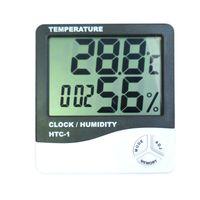 HTC-1 Intérieur Salle LCD Thermomètre électronique Température Humidité Thermomètre Numérique Hygromètre Station Météo Réveil Thermometro