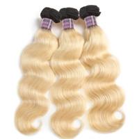 Neue Ankunfts-Produkte T1B / 613 Blonde bündelt Körperwelle 4pcs peruanische malaysische indische Menschenhaarverlängerung Remy brasilianische Haarwebart