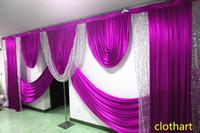 Swags of 3m High * 6m Wide S Lentejuelas de lentejuelas de la boda Decoración de la decoración de los diseños del estilista de la boda Swags para el telón de fondo Fiesta de la cortina del escenario del escenario