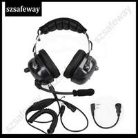 2018 de alta qualidade heavy duty walkie talkie cancelamento de ruído fone de ouvido fone de ouvido para baofeng uv-5r para kenwood rádio em dois sentidos