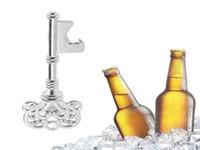 Kluczowy kształt Otwieracz do butelek piwa Vintage Retro Brelok Otwieracz Klucz Pierścień Metal Srebrne Przenośne Prezenty Otwieracz do butelek Piwo