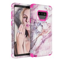 For Samsung Note 9 Case 3in1 Marble Case Soft TPU Hard PC Ba...