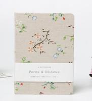 خمر غطاء الأزهار الدفاتر الإبداعية الكرتون القماش يغطي السفر مجلة أحجام كبيرة الألبان ورقة كتاب الرجعية المفكرة شيرستاس هدية