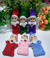 DHL Free Christmas Elf Mini muñeca de 8 colores para elegir 50PCS vacaciones Kids de Navidad Año Nuevo regalo