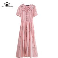 Bella Philosophy 2018 summer holiday casual women dress embr...