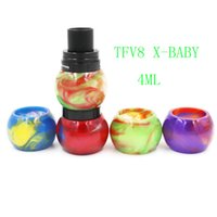 Colorful Resin Glass Globe Tube Replacement Caps for TFV8 TF...