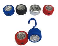 24 LED Portátil Gancho Luz de Acampamento Lâmpada Lanterna Pendurado Bolso Clip-On Light 24LED Frete Grátis