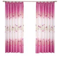 2 Panneaux Papillon Fleurs Imprimé Panneaux De Rideau De Fenêtre avec Crochets Pour Chambre Salon Chambre D'enfants Pépinière Fenêtre Drapés - 100 x200cm