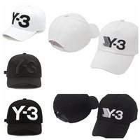 4 couleurs New Y-3 papa chapeau Big Bold Logo brodé casquette de baseball réglable Strapback chapeaux Y3 casquettes de baseball CCA9221 5 pcs