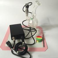 النرجيلات e مسمار كيت تي مسمار الزجاج بونغ بخار الإلكترونية تحكم مربع ل diy مدخن denail لفائف الشمع الجاف عشب مربع dabber