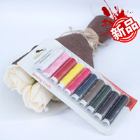 10Pcs 50m Sewing Thread Polyester Machine Embroidery Hand Se...
