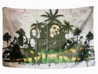 Bob Marley Drapeau Bannière Polyester 144 * 96cm A accrocher au mur 4 œillets Drapeau Personnalisé intérieur