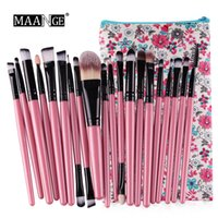20pcs set Maange Professional Make up Brushes Portable Makeu...