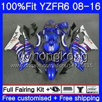Инжекционная горячая распродажа синего цвета Для YAMAHA YZF600 YZFR6 08 09 10 11 12 YZF-600 234HM.9 YZF 600 R 6 YZF-R6 YZF R6 2008 2009 2010 2011 2012 Обтекатели