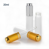 100pcs lot 20ml Frosted Glass Empty Dropper Bottle With Pipe...
