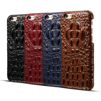 Ss direct selling stilvolle ultra slim echtes leder ultra 3d kopf leder alligator shell für iphone 6 6 plus 7 7 plus case