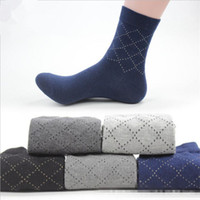 5 Çift / grup Yüksek Kalite Adam Rahat Çorap Erkek Yüksek Pamuk Erkekler Elbise Çorap Saf Renk İş Stil Sonbahar Çorap Erkekler