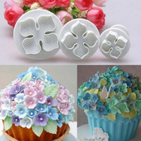 3pcs set Cake Flower Mold Hydrangea Fondant Cake Decorating ...